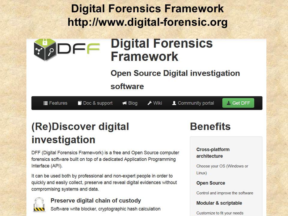 Digital Forensics Framework http://www.digital-forensic.org