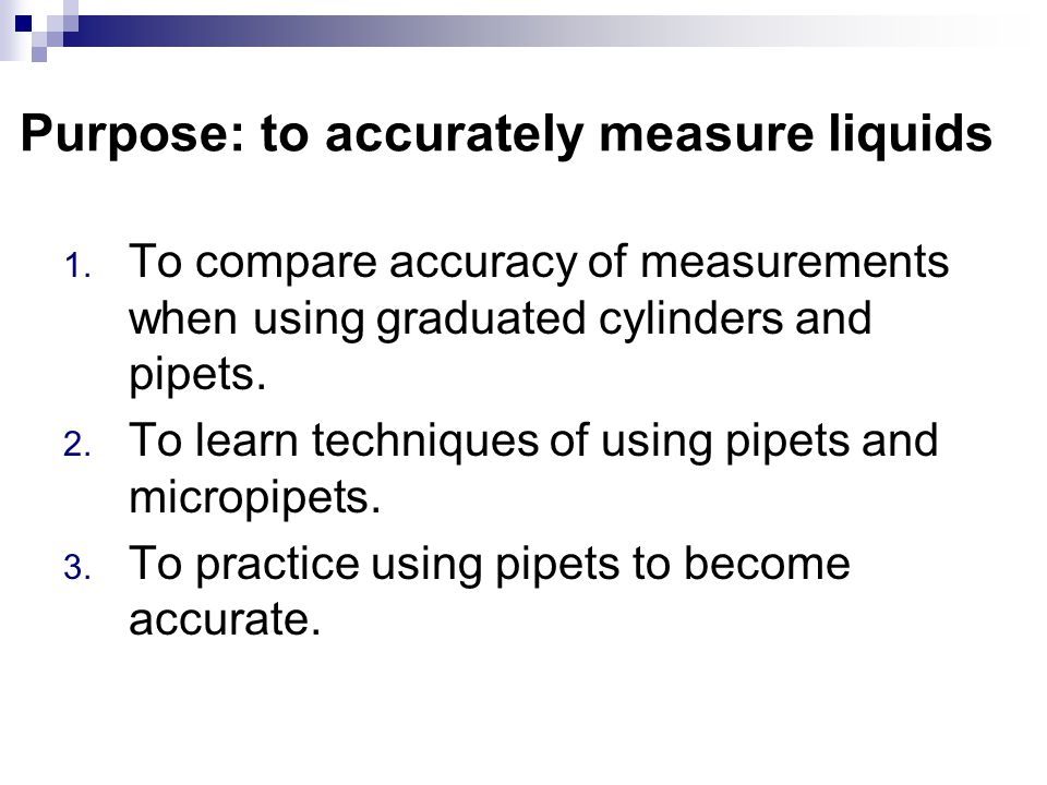 Measuring using the metric system What unit are used? What equipment? Liquid Mass