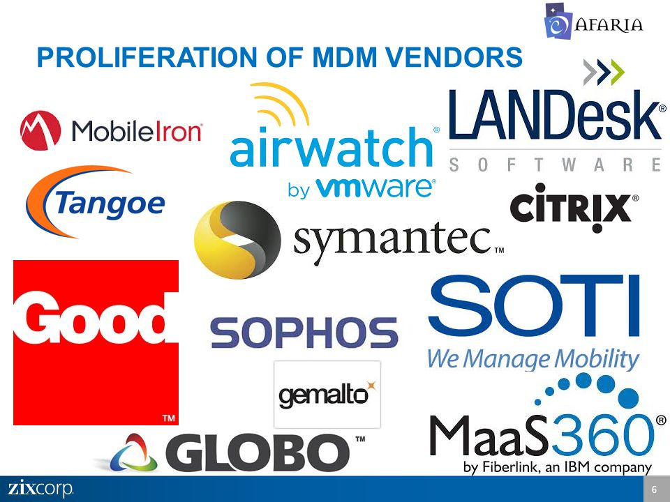 PROLIFERATION OF MDM VENDORS 6