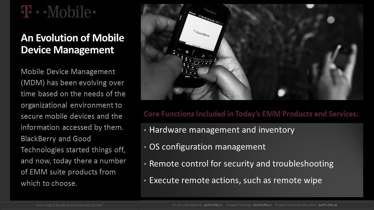 An Evolution of Mobile Device Management Mobile Device Management (MDM) has been evolving over time based on the needs of the organizational environme