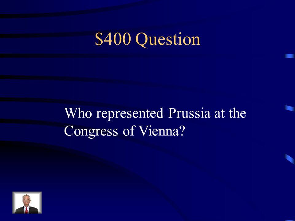 $300 Answer Czar Alexander I