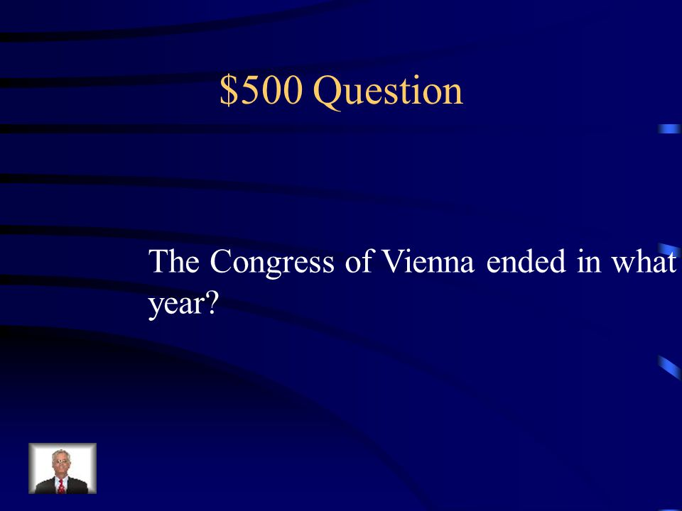 $400 Answer Prince Karl August von Hardenberg