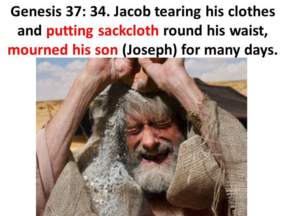 Genesis 37: 34.