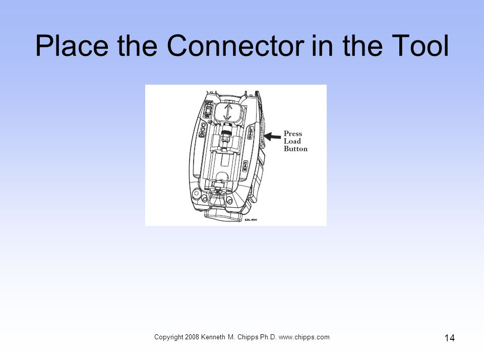 Place the Connector in the Tool Copyright 2008 Kenneth M. Chipps Ph.D. www.chipps.com 14