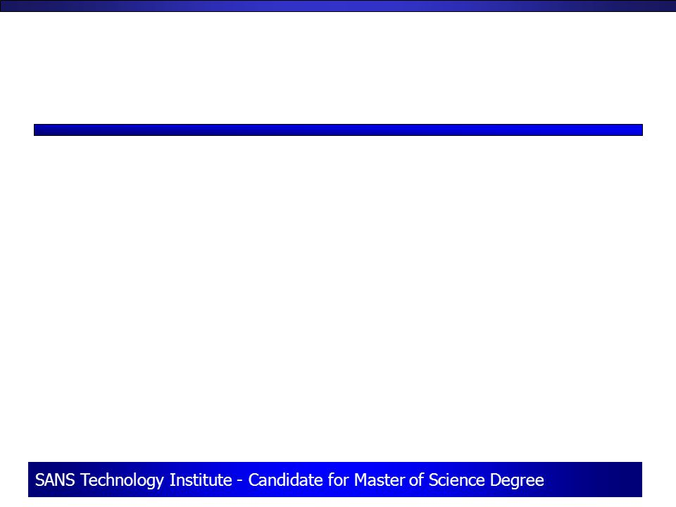 SANS Technology Institute - Candidate for Master of Science Degree