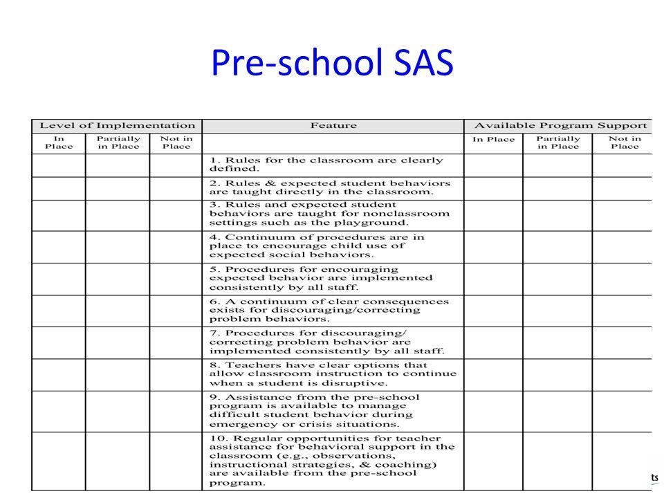 Pre-school SAS