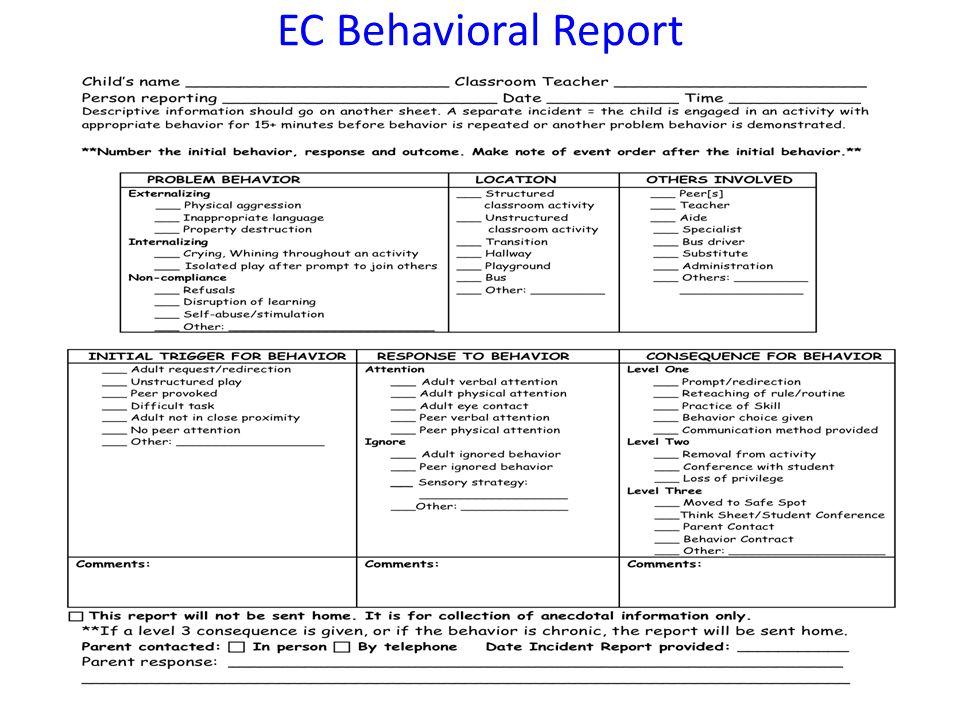 EC Behavioral Report