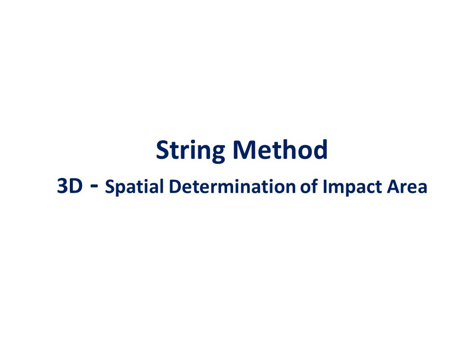String Method 3D - Spatial Determination of Impact Area
