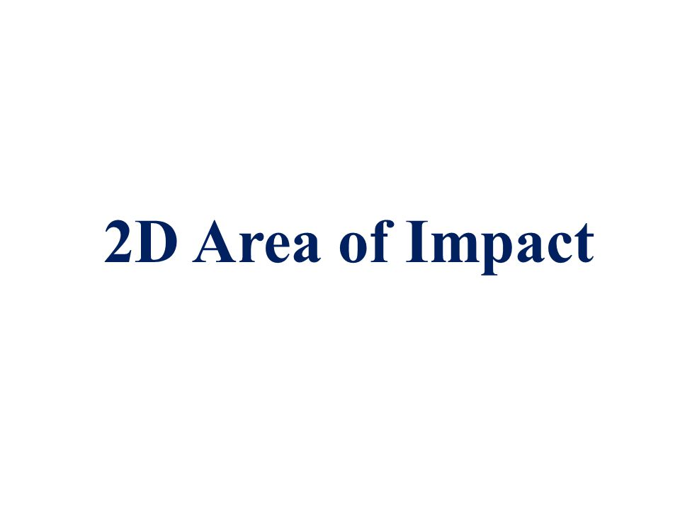 Point of convergence or Back Projection in 2-Dimensions  Represents the 2D location of an impact,  Blunt force trauma when someone has been beaten with an object or a fist.
