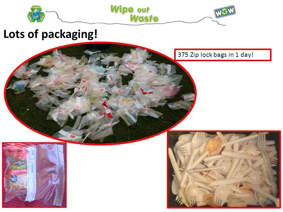 375 Zip lock bags in 1 day! Lots of packaging!