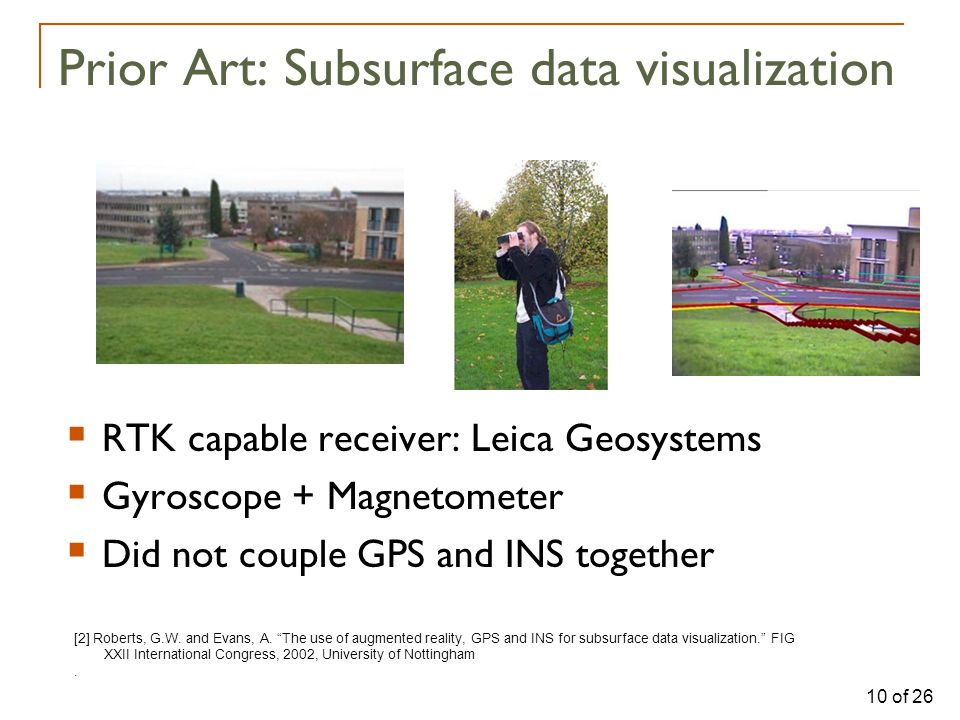 10 of 26 Prior Art: Subsurface data visualization [2] Roberts, G.W.