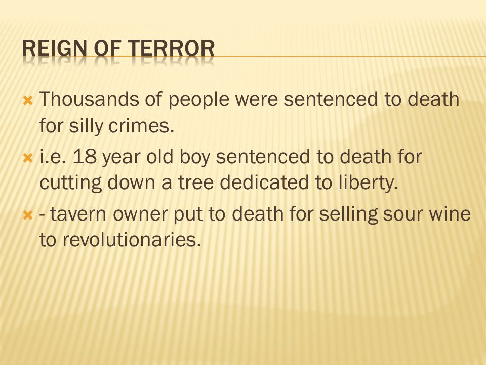  Thousands of people were sentenced to death for silly crimes.