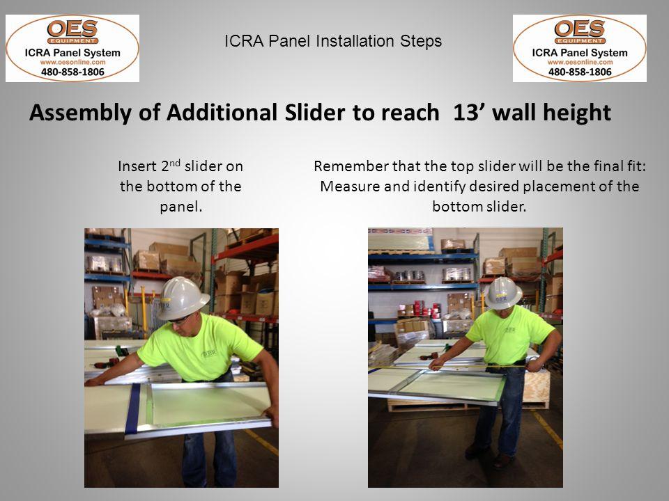 ICRA Panel Installation Steps PROPER Panel System Storage
