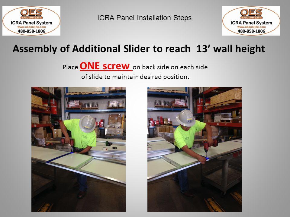 ICRA Panel Installation Steps IMPROPER Panel Storage