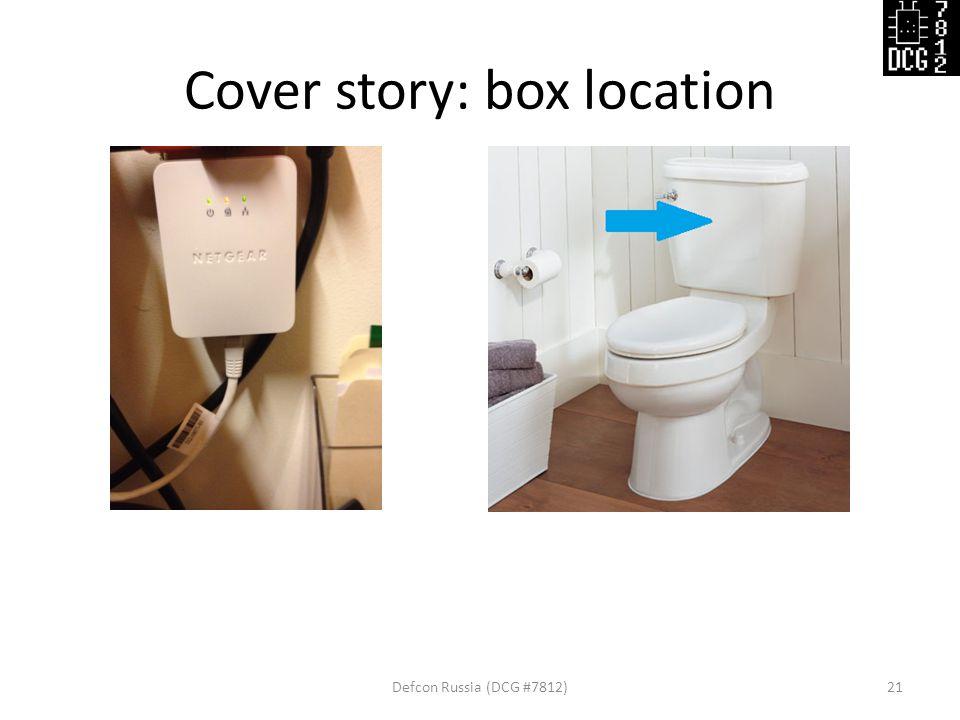 Cover story: box location Defcon Russia (DCG #7812)21