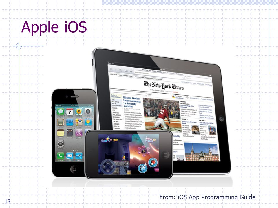 13 Apple iOS From: iOS App Programming Guide