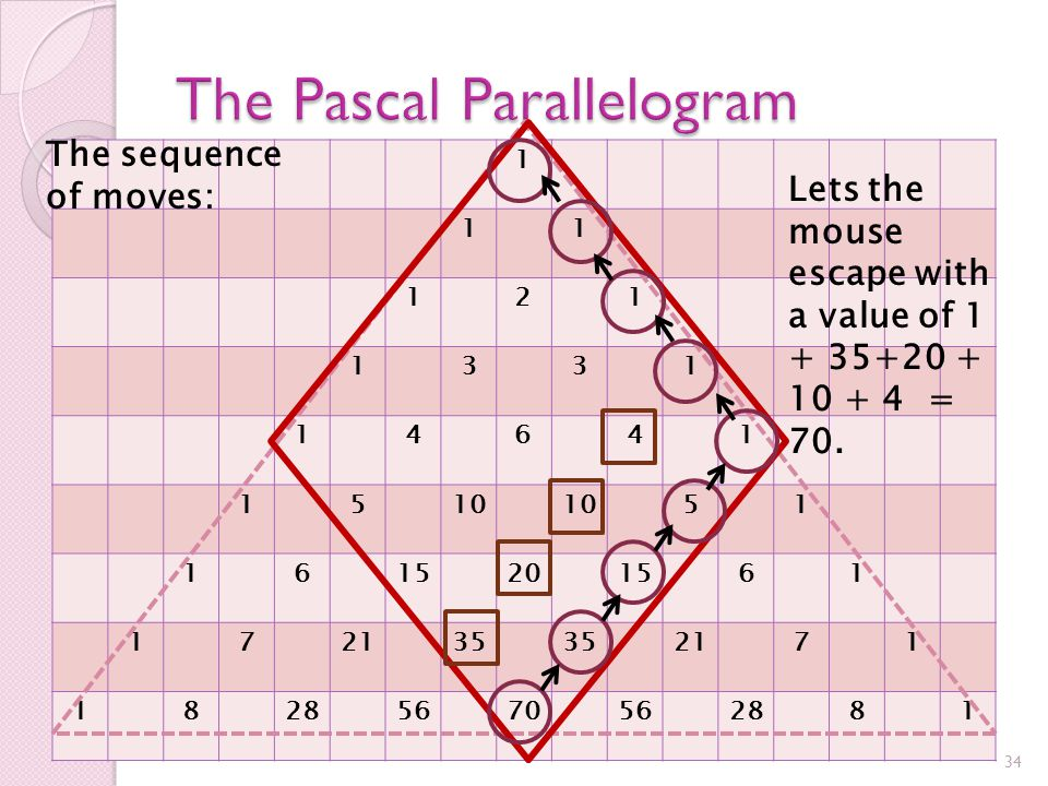 Consider a mouse that finds itself at the cornerstone of the parallelogram.