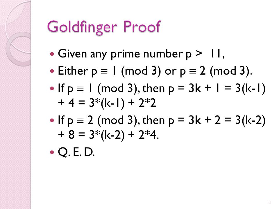 Every prime number > 11 is the sum of two composite numbers. I have been able to prove the Goldfinger Conjecture.