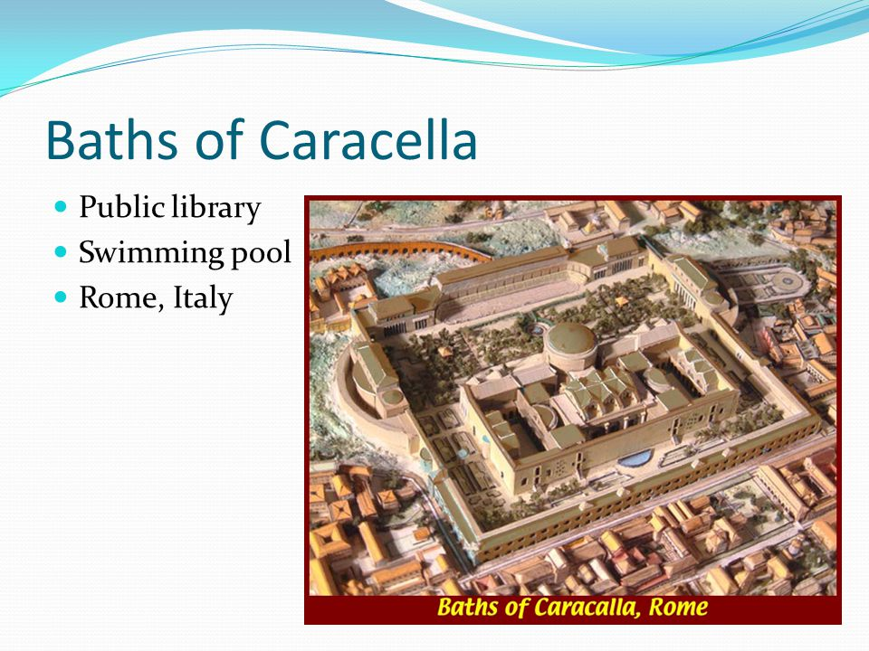Baths of Caracella Public library Swimming pool Rome, Italy
