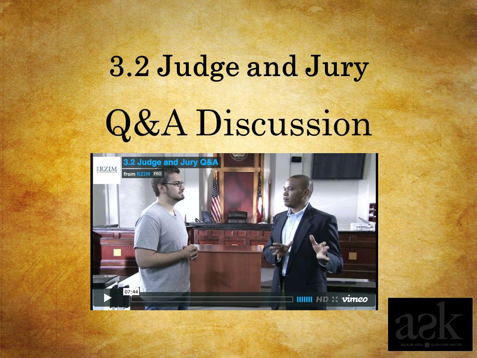 3.2 Judge and Jury Q&A Discussion