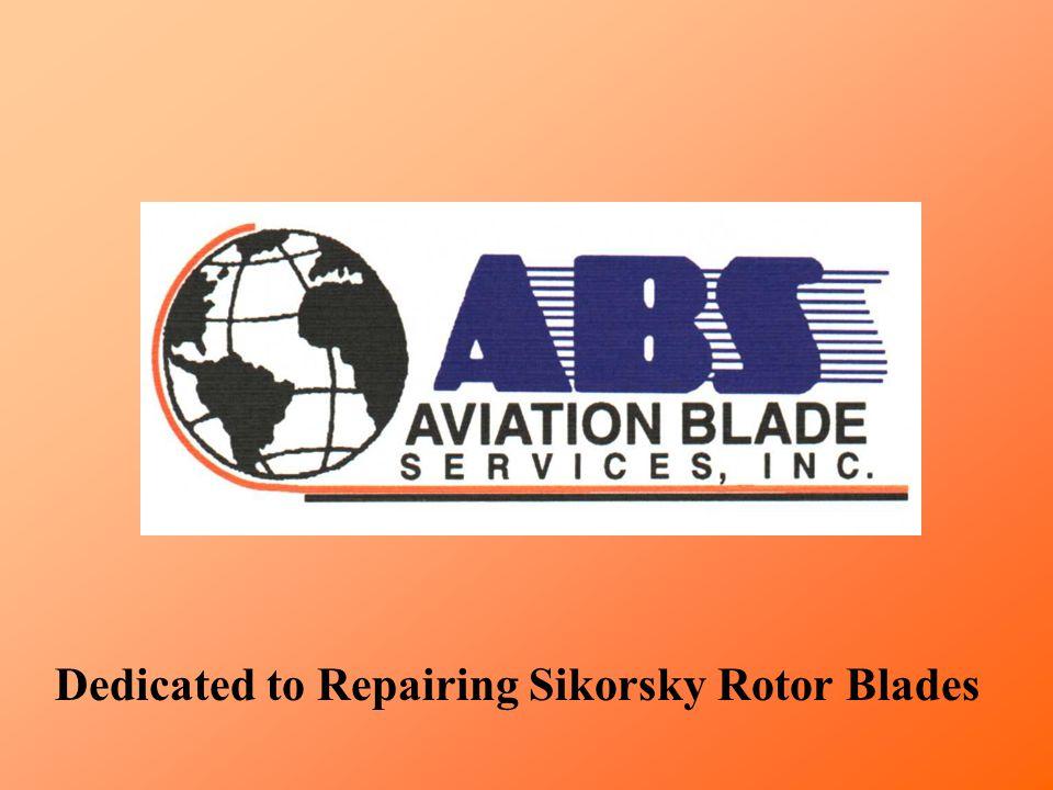 New nickel abrasion strip installed on spar. Tail Blade Repair