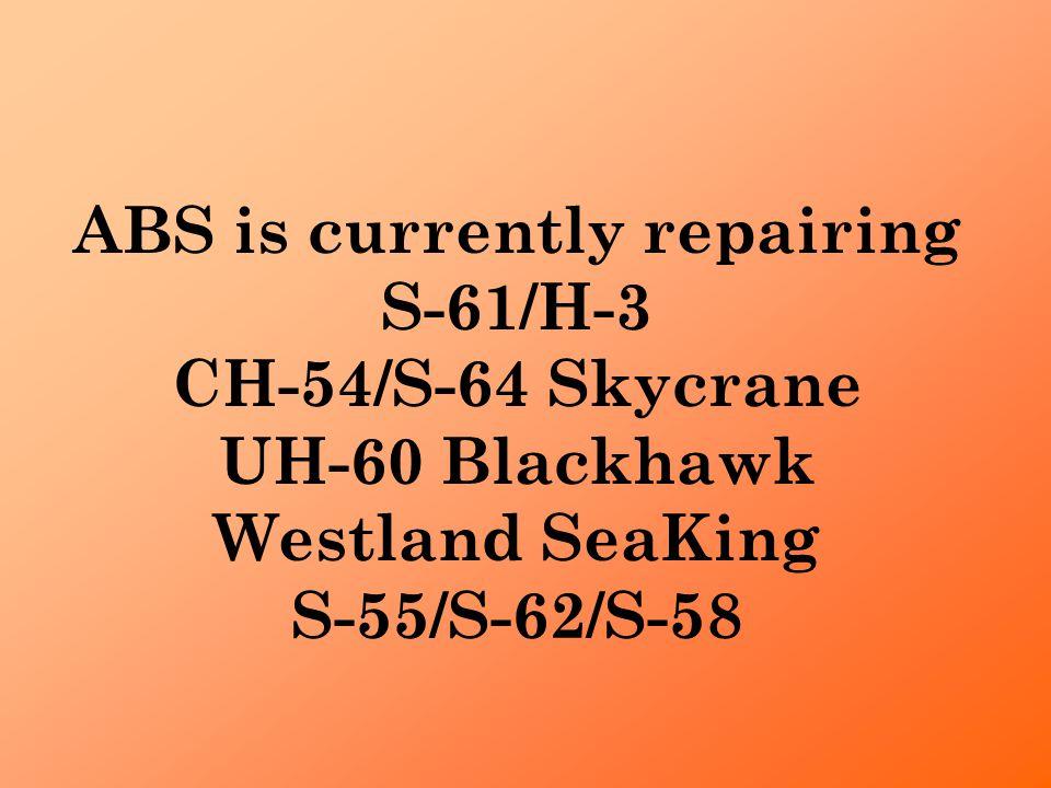 ABS initiated nickel plated tip cap repair on Westland Seaking tail rotor blade. Repairs