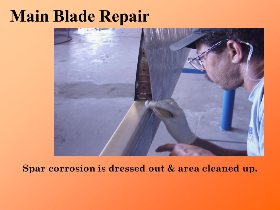 Blade is X-Rayed for further hidden damage and defects. Main Blade Repair