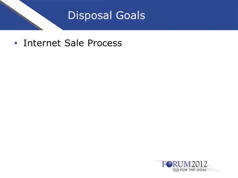 Internet Sale Process