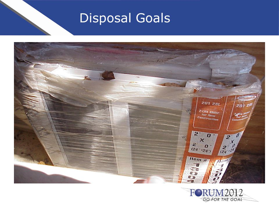 Disposal Goals