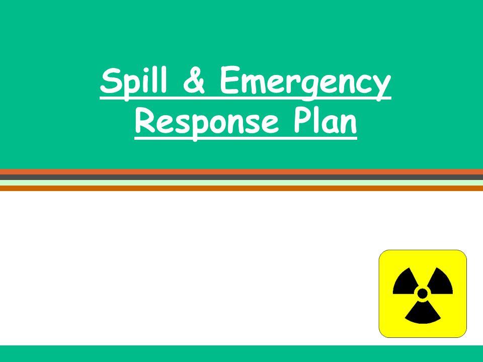 Spill & Emergency Response Plan
