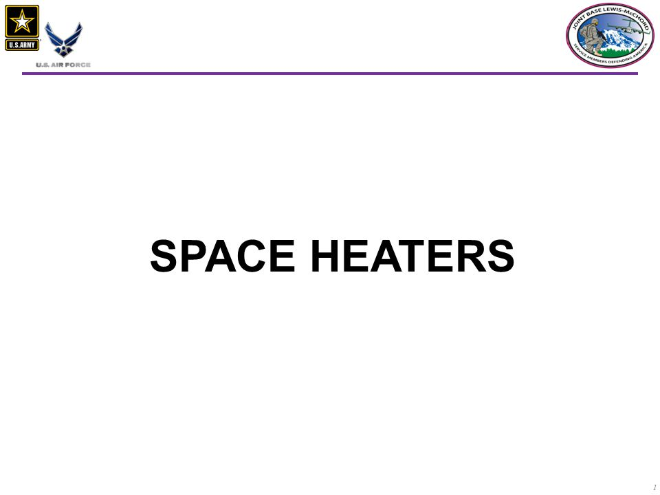 1 SPACE HEATERS