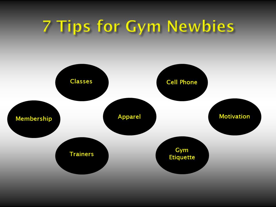 Membership Trainers Apparel Gym Etiquette Classes Cell Phone Motivation