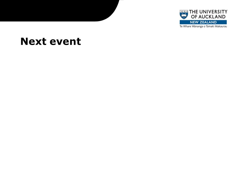 Next event