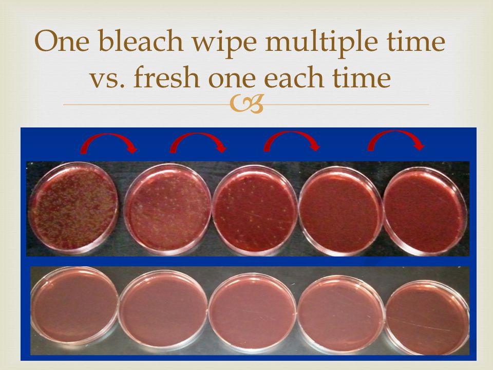  44 One bleach wipe multiple time vs. fresh one each time