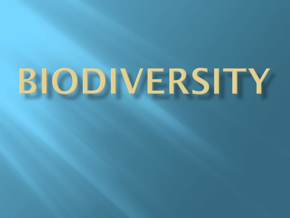 Importance of Biodiversity and the Human Threat  There are almost 2,000,000 different species of organisms on Earth.