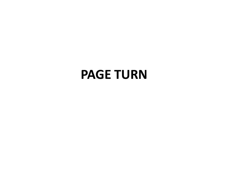 PAGE TURN