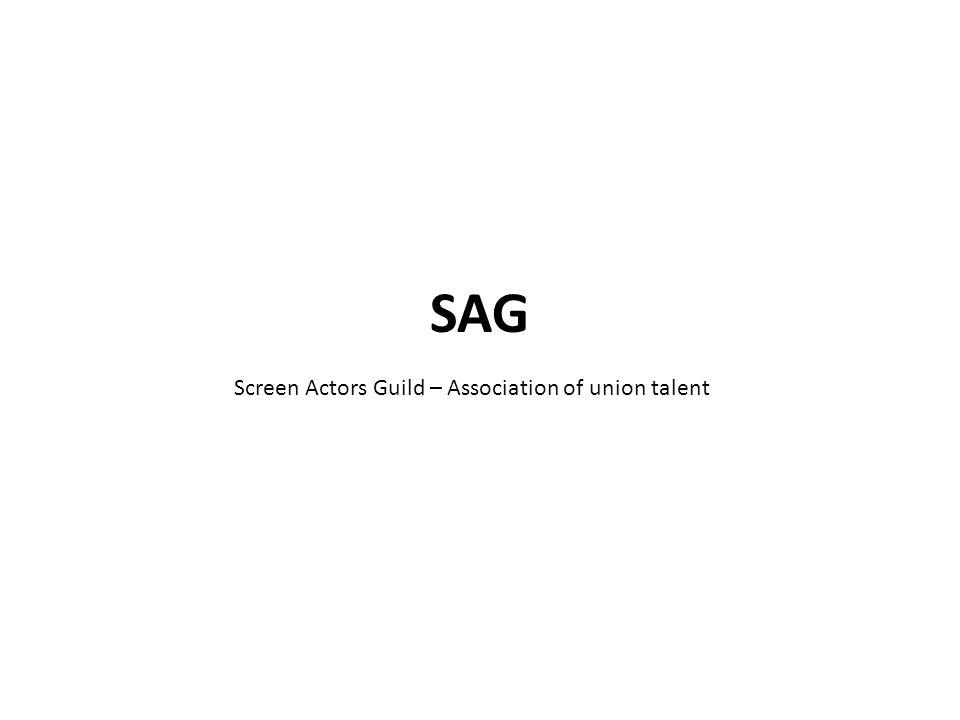 Screen Actors Guild – Association of union talent
