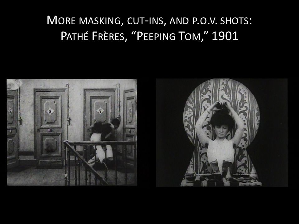M ORE MASKING, CUT - INS, AND P. O. V. SHOTS : P ATHÉ F RÈRES, P EEPING T OM, 1901