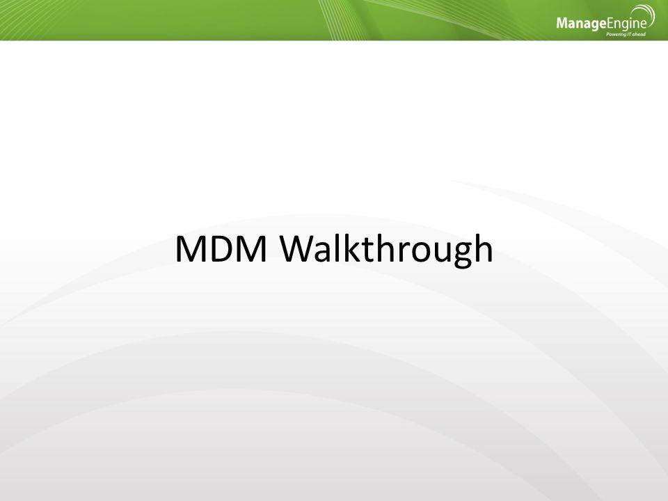 MDM Walkthrough
