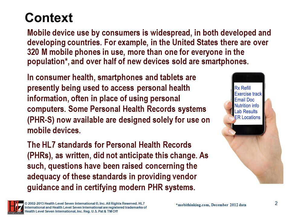 2 © 2002-2013 Health Level Seven International ®, Inc.