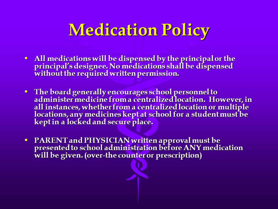 Medication Training This training is required annually.