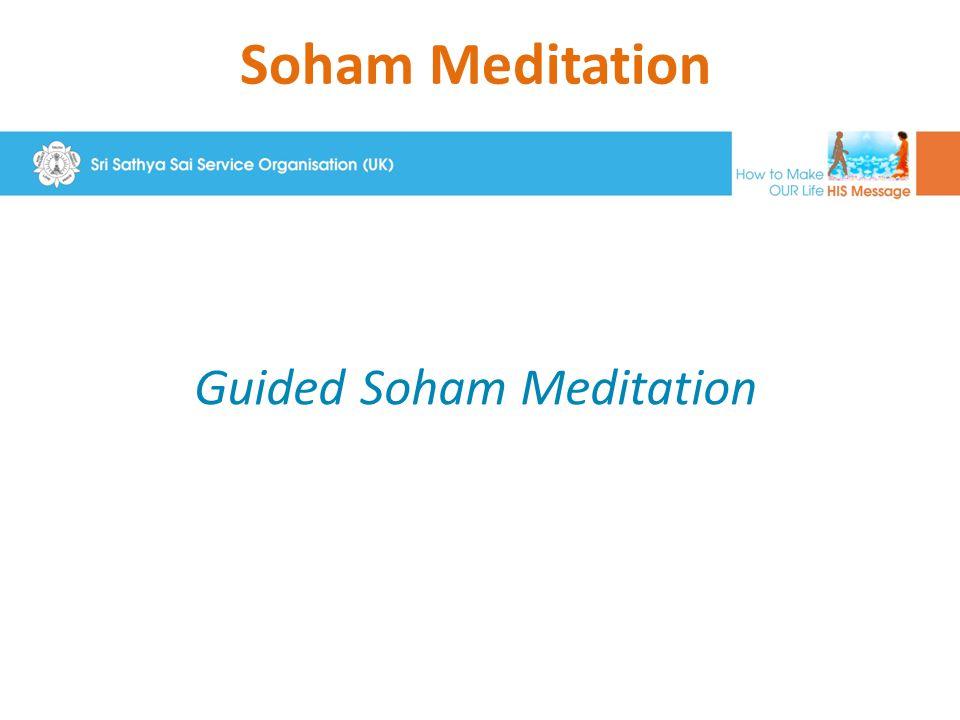 Soham Meditation Guided Soham Meditation