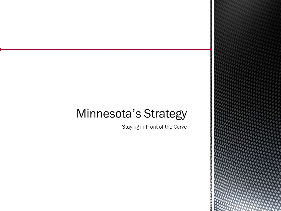 Minnesota's Strategy Staying in Front of the Curve