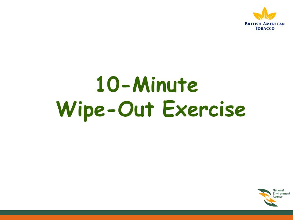 10-Minute Wipe-Out Exercise