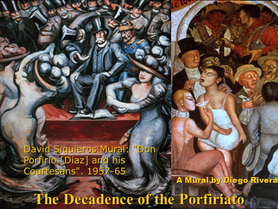 David Siquieros Mural: Don Porfirio [Diaz] and his Courtesans .