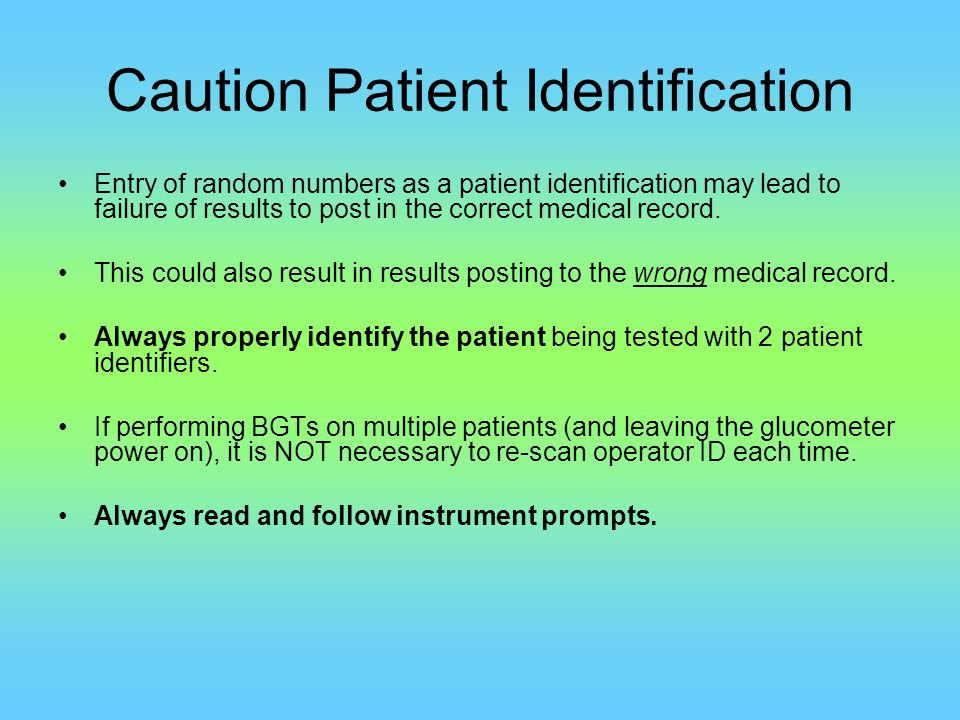 Strip Identification The strip used for patient testing should be scanned just prior to use.