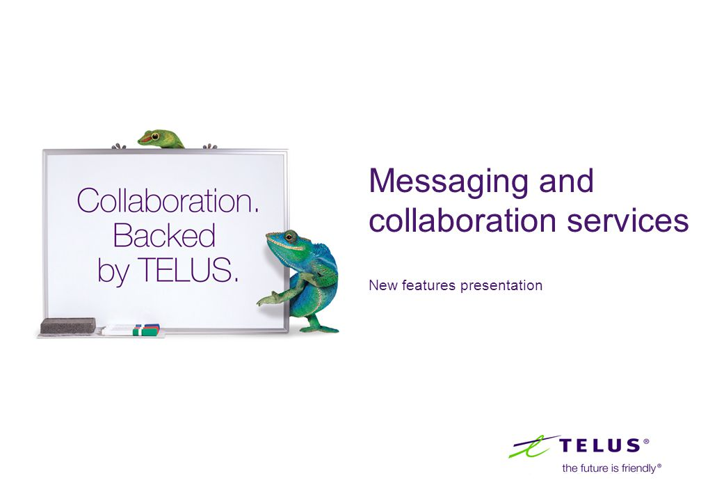 Messaging and collaboration services New features presentation