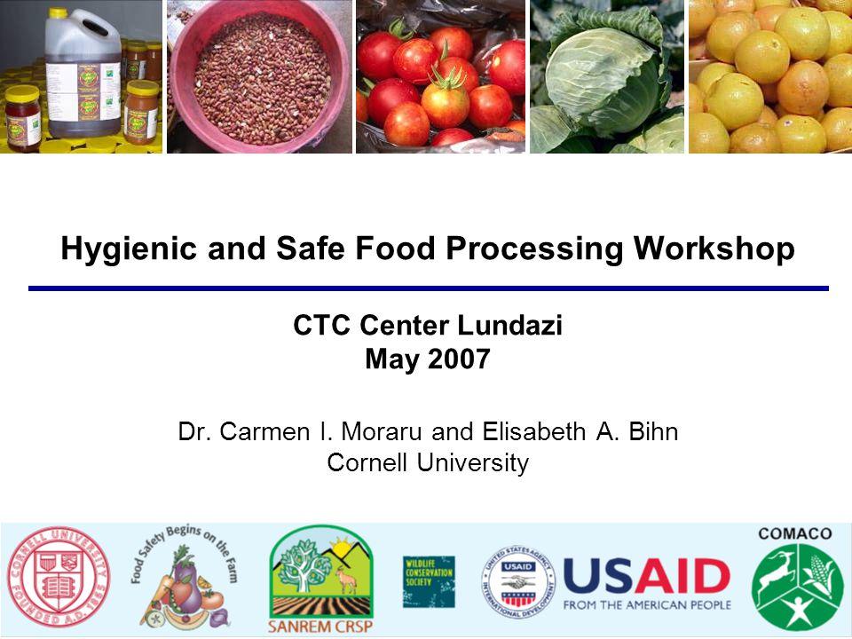 Hygienic and Safe Food Processing Workshop CTC Center Lundazi May 2007 Dr. Carmen I. Moraru and Elisabeth A. Bihn Cornell University