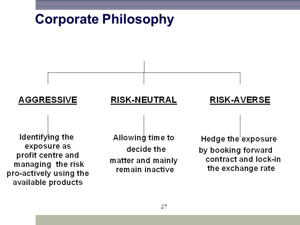 27 Corporate Philosophy