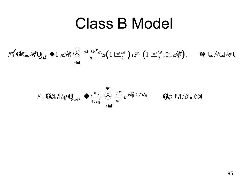 85 Class B Model
